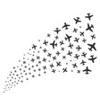airplane source stream vector image vector image