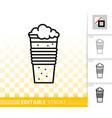 beer mug simple black line ale pub bar icon vector image vector image