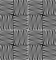 Black and white striped squares vector image