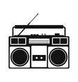 Boombox simple icon vector image