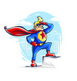 brave superhero man in costume vector image vector image
