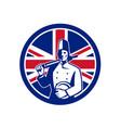 british baker union jack flag icon vector image vector image