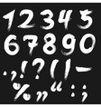 Brushed numbers white vector image