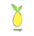 cartoon mango on white vector image vector image