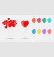 collection realistic balloons for vector image