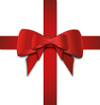 Double Red Bow vector image