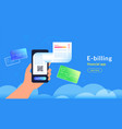 e-billing after payment credit card via vector image vector image