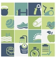 Fitness and wellness club icons set vector image