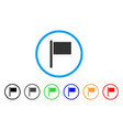 flag pointer rounded icon vector image vector image