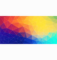 fresh color triangle wallpaper vector image vector image