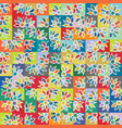 funky stylized rainbow geo floral micro pattern vector image vector image
