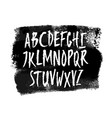 hand drawn alphabet uppercase letters vector image vector image