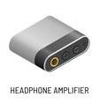 headphone amplifier audio device music record vector image
