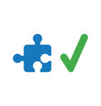 icon concept of missing jigsaw puzzle piece with vector image