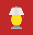 lantern or lamp icon flat style vector image vector image