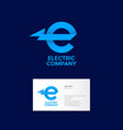 logo electric company power identity industrial vector image
