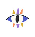 magic evil eye with colorful eyelashes mystical vector image vector image