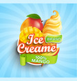 mango ice cream logo label or emblem vector image vector image