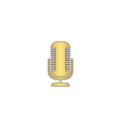 Microphone computer symbol vector image vector image