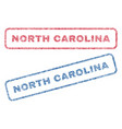north carolina textile stamps vector image vector image