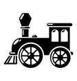old train icon simple style vector image vector image