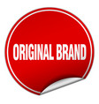 original brand round red sticker isolated on white vector image vector image