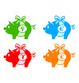piggy banks vector image vector image
