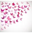 pink butterflies Corner vector image vector image