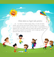 playground children having fun vector image vector image