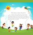 playground children having fun vector image