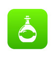 pot bellied bottle icon green vector image vector image