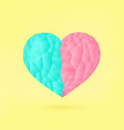 punchy pastels polygonal love valentine heart vector image