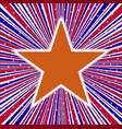 red white and blue rays with arizona star vector image vector image