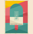 retro geometric concept for ice cream vector image vector image
