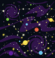 seamless pattern of constellations on black vector image