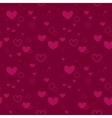 Seamless pink background with hearts vector image vector image