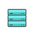 server data web hosting flat color line vector image