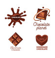 set homemade kraft and handmade chocolate vector image vector image