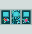 set of covers floral pattern vector image