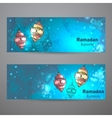 Set of two horizontal banners for Ramadan Kareem vector image vector image