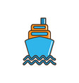 ship boat container marine nautical transport line vector image vector image