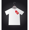 shirt with tag vector image