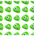 smile green monster seamless pattern textile vector image vector image