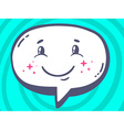 speech bubble with icon of smile on blue vector image