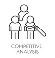 startup and business competitive analysis or data vector image vector image