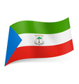 State flag of Equatorial Guinea vector image vector image