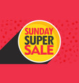 sunday super sale discount banner design for your vector image vector image