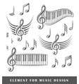treble clef and notes vector image vector image