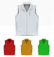 unisex vest isolated on white background vector image