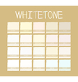 Whitetone Color Tone vector image
